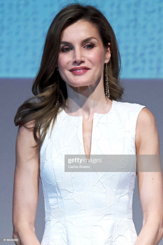 Queen Letizia of Spain Attends National Fashion Awards 2017