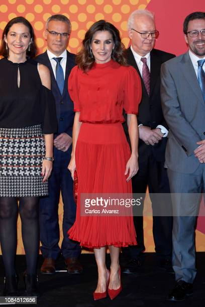 Queen Letizia of Spain attends the National Fashion awards at Museo del Traje on December 19, 2018 in Madrid, Spain.