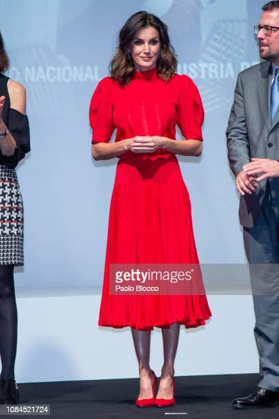 Queen Letizia of Spain attends the National Fashion awards at Museo del Traje on December 19 2018 in Madrid Spain