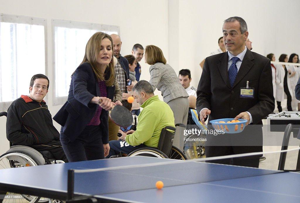 King Felipe VI and Queen Letizia Attend the National Paraplegics Hospital 40th Anniversary : News Photo