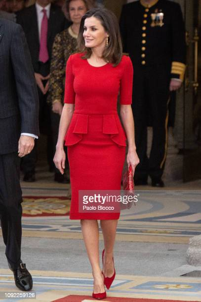 Queen Letizia of Spain attends the National Sports Awards 2017 at the El Pardo Palace on January 10 2019 in Madrid Spain