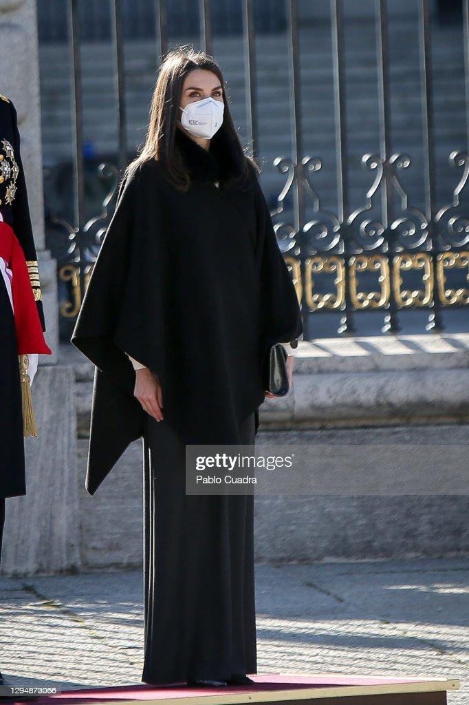Spanish Royals Celebrate New Year's Military Parade 2021 : News Photo