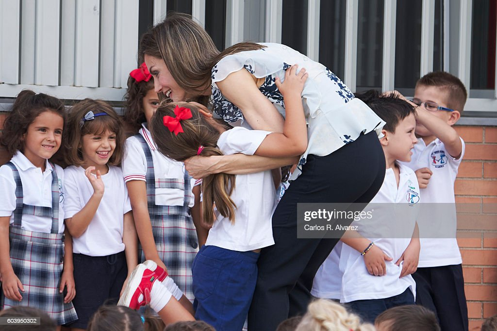Queen Letizia of Spain Opens The School Course in Almeria : News Photo
