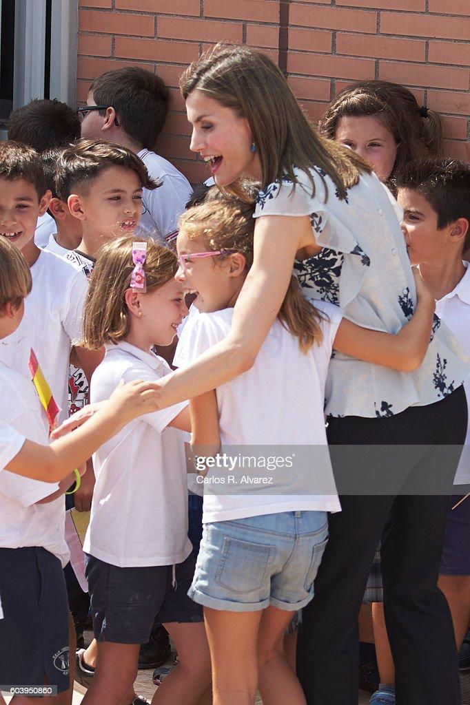 Queen Letizia of Spain Opens The School Course in Almeria : News Photo