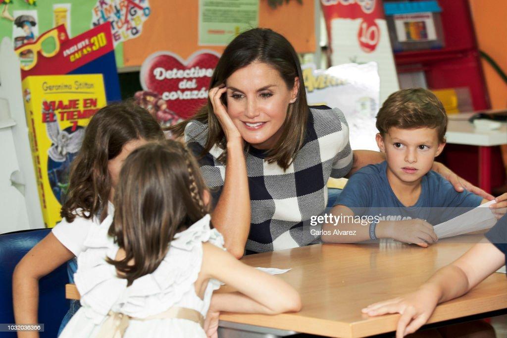 Queen Letizia Of Spain Opens The School Course In Oviedo : News Photo