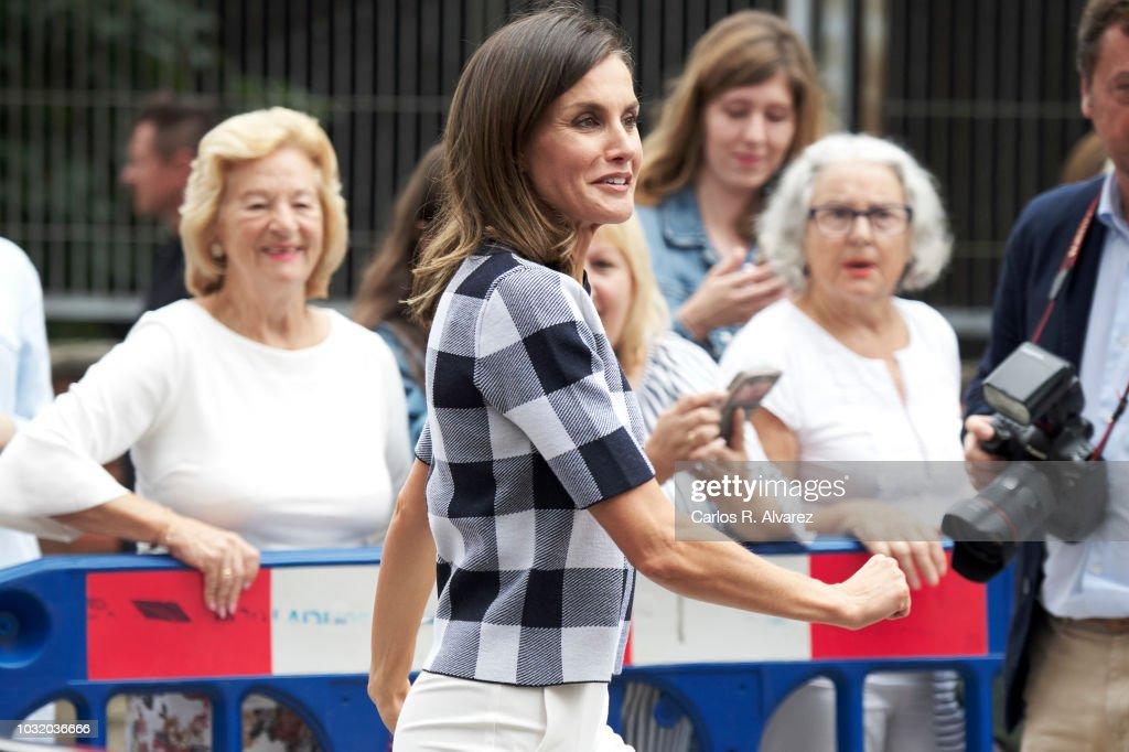 Queen Letizia of Spain Opens The School Course in Oviedo