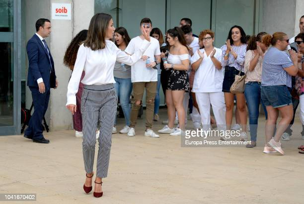 Queen Letizia of Spain attends the opening of 2018/2019 secondary vocational education course at CIFP Son Llebre school on September 27 2018 in...