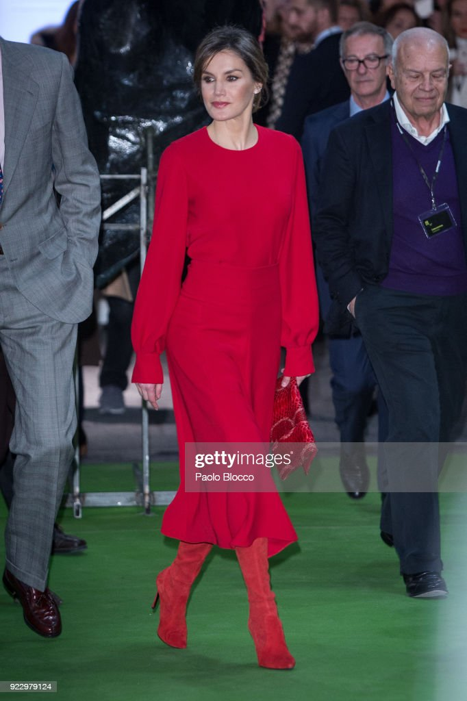 Spanish Royals Attend The Opening of ARCO Fair 2018 : News Photo
