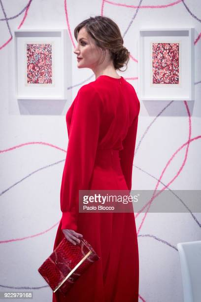 Queen Letizia of Spain attends the opening of ARCO 2018 at Ifema on February 22 2018 in Madrid Spain