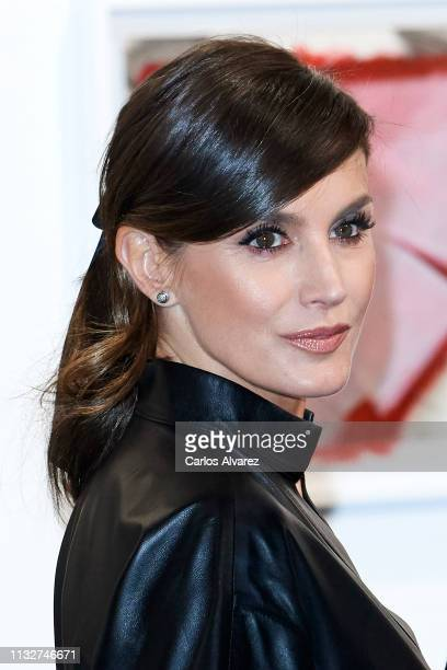Queen Letizia of Spain attends the opening of ARCO 2019 at Ifema on February 28 2019 in Madrid Spain