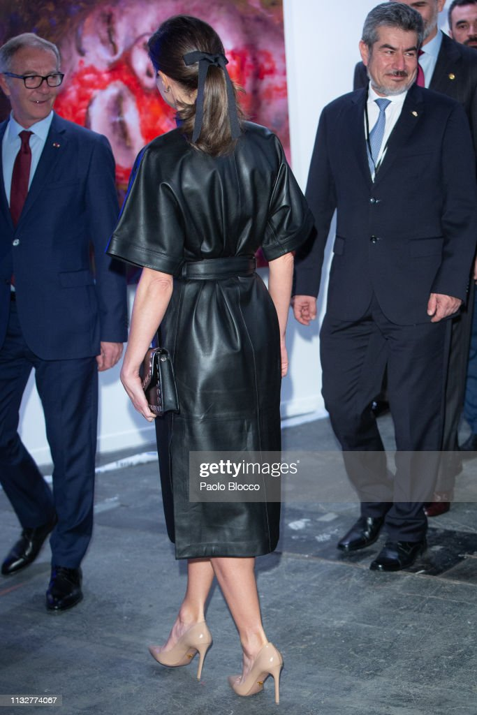 Spanish Royals Attend ARCO Art Fair 2019 : News Photo