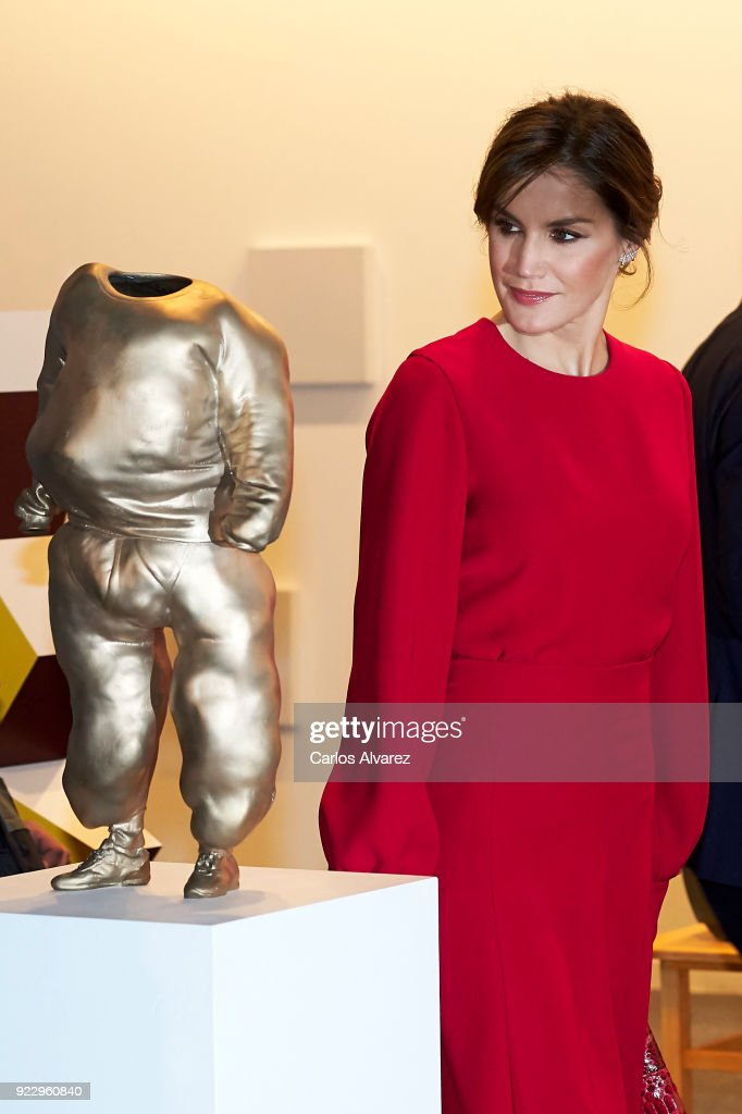 Queen Letizia of Spain attends the opening of ARCO (Contemporary Art Fair) at Ifema on February 22, 2018 in Madrid, Spain.