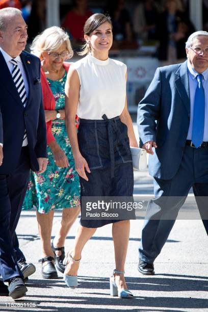 Queen Letizia of Spain attends the opening of Madrid Book Fair on May 31 2019 in Madrid Spain