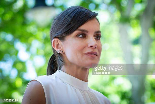 Queen Letizia of Spain attends the opening of Madrid Book Fair on May 31, 2019 in Madrid, Spain.