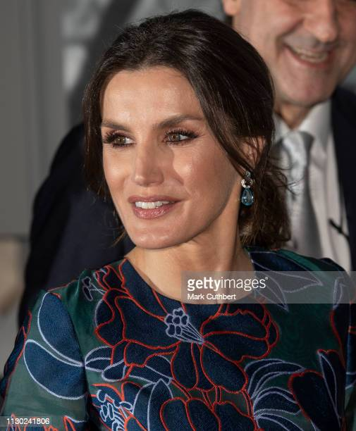 Queen Letizia of Spain attends the opening of Sorolla Spanish Master of Light at the National Gallery on March 13 2019 in London England