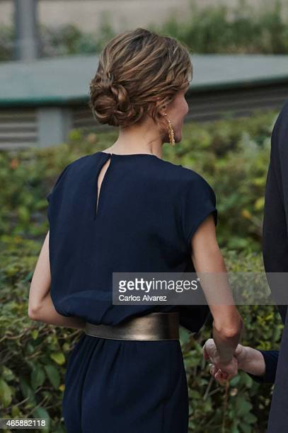 Queen Letizia of Spain attends the opening of 'Teresa de Jesus' exhibition at the National Library on March 11 2015 in Madrid Spain