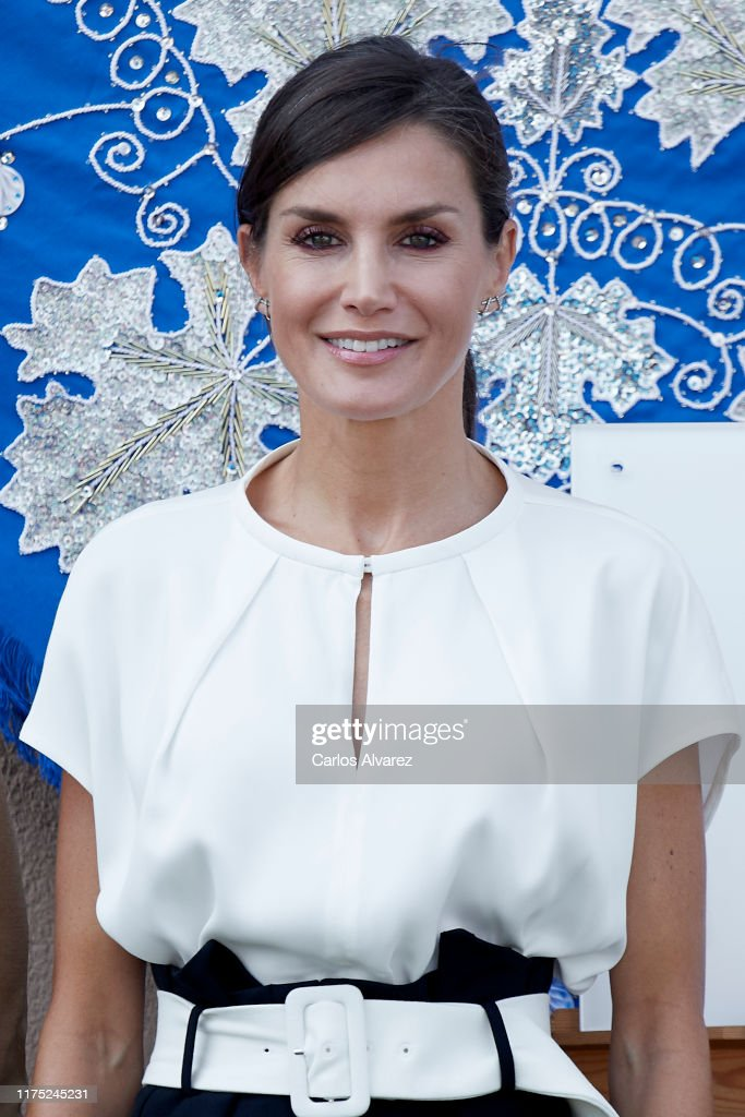 Queen Letizia of Spain Opens The School Course in Torrejoncillo : News Photo