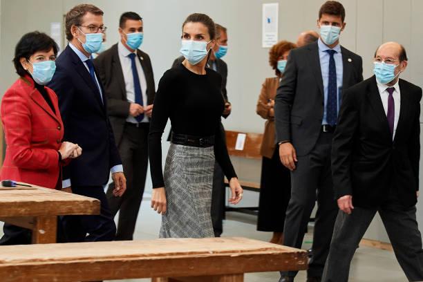ESP: Queen Letizia of Spain Attends The Opening of Professional Courses In Santiago De Compostela