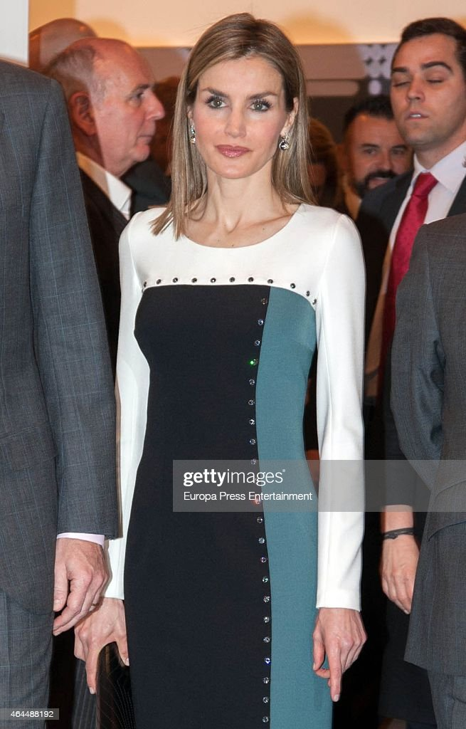 Queen Letizia of Spain attends the opening of the International Contemporary Art Fair ARCO 2015 at Ifema on February 26, 2015 in Madrid, Spain.