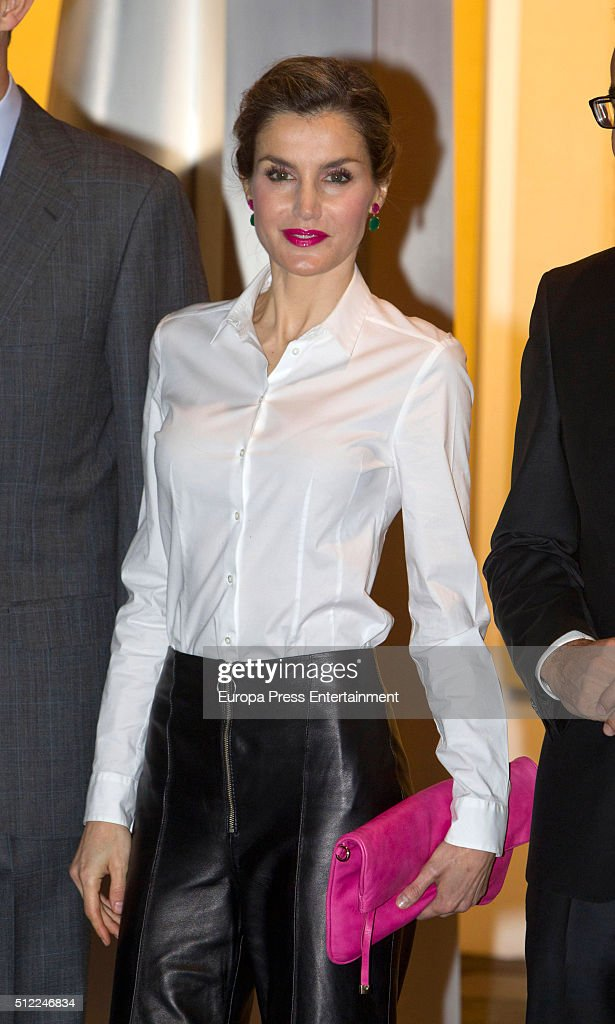 Queen Letizia of Spain attends the opening of the International Contemporary Art Fair, ARCO 2016 at Ifema on February 25, 2016 in Madrid, Spain.