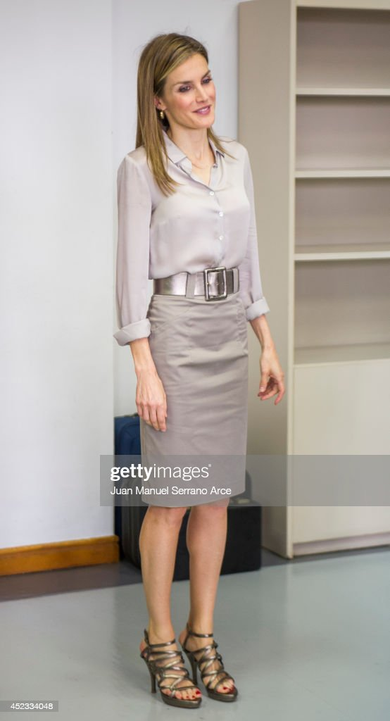 Queen Letizia of Spain attends the opening of the International Music School Summer Courses by Prince of Asturias Foundation at on July 18, 2014 in Oviedo, Spain.
