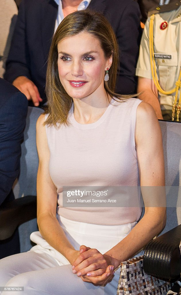 Queen Letizia Of Spain Attends The Opening Of The International Music School Summer Courses By Princess Of Asturias Foundation : News Photo