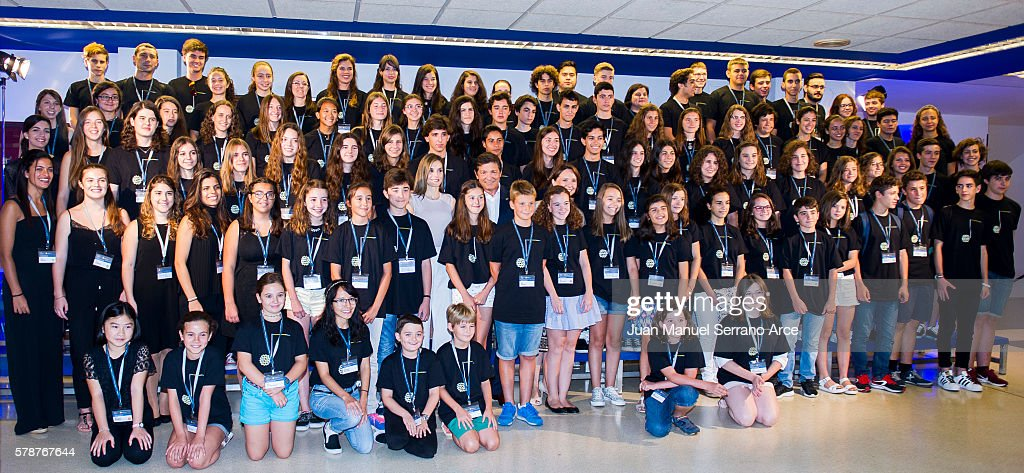 Queen Letizia of Spain attends the opening of the International Music School Summer Courses by Princess of Asturias Foundation at on July 22, 2016 in Oviedo, Spain.