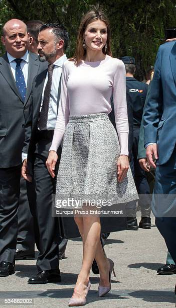 Queen Letizia of Spain attends the opening of the Madrid Book Fair 2016 on May 27 2016 in Madrid Spain