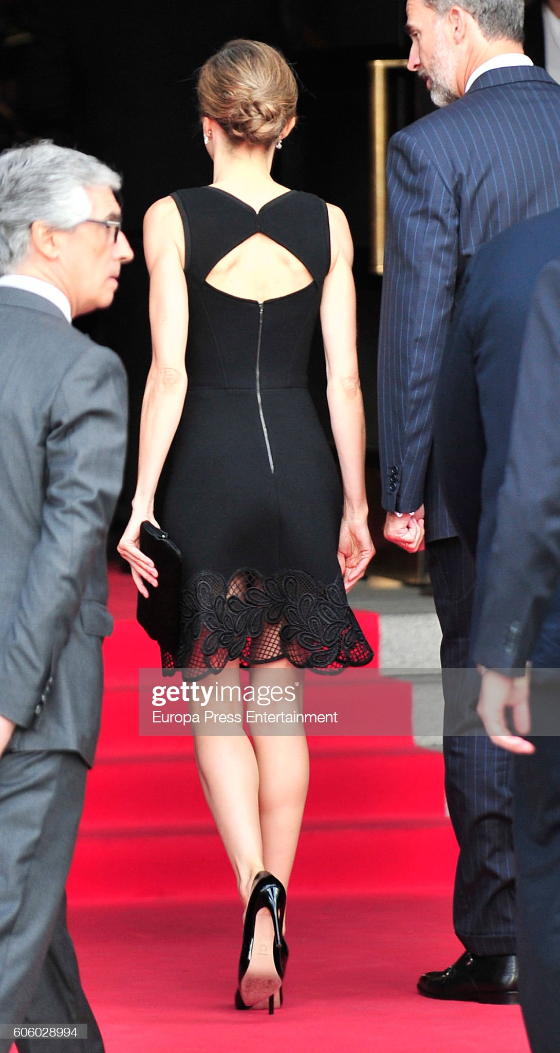 Spanish Royals Attend Royal Theatre New Season Inauguration in Madrid : News Photo