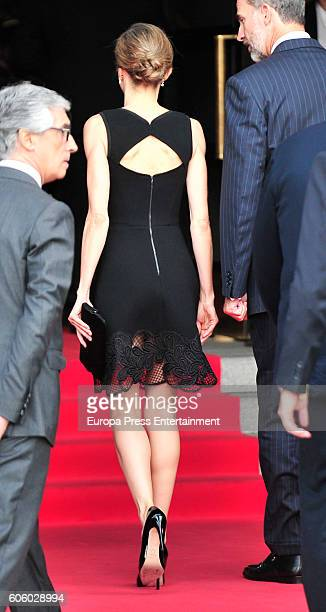 Queen Letizia of Spain attends the opening of the Royal Theatre new season, the day she is 44 years old on September 15, 2016 in Madrid, Spain.