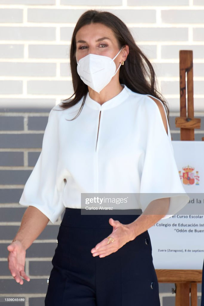 Queen Letizia Attends The Opening of The School Course 21-22 : News Photo