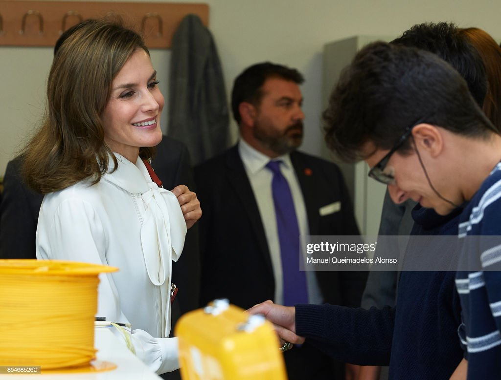 Spanish Royals Attend the Opening of Professional Courses in Teruel