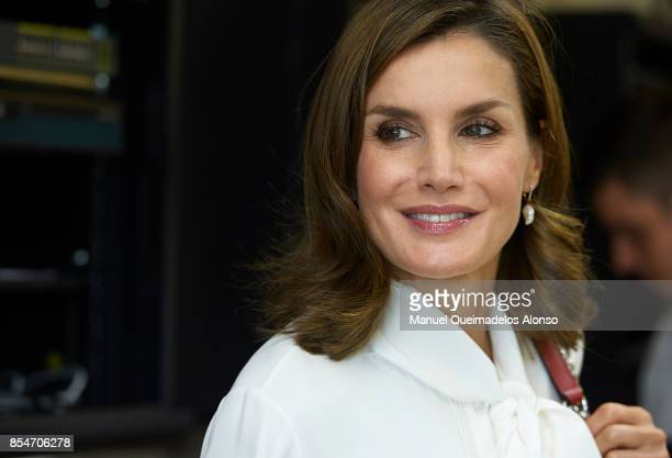 Queen Letizia of Spain attends the Opening of vocational training course 2017/2018 at Instituto de Educacion Secundaria 'Segundo de Chomon' on...
