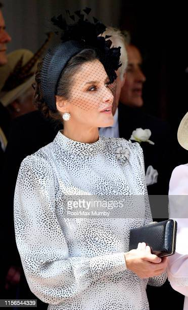 Queen Letizia of Spain attends the Order of the Garter service at St George's Chapel on June 17 2019 in Windsor England The Most Noble Order of the...