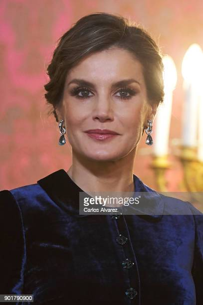 Queen Letizia of Spain attends the Pascua Militar ceremony at the Royal Palace on January 6 2018 in Madrid Spain