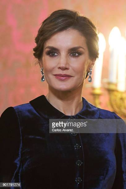 Queen Letizia of Spain attends the Pascua Militar ceremony at the Royal Palace on January 6, 2018 in Madrid, Spain.