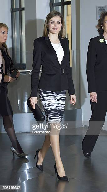 Queen Letizia of Spain attends the 'Por Un Enfoque Integral' Forum Against Cancer at the AECC on February 3 2016 in Madrid Spain
