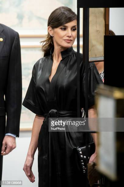 Queen Letizia of Spain attends the presentation of ARCOmadrid at Ifema in Madrid Spain February 28 2019