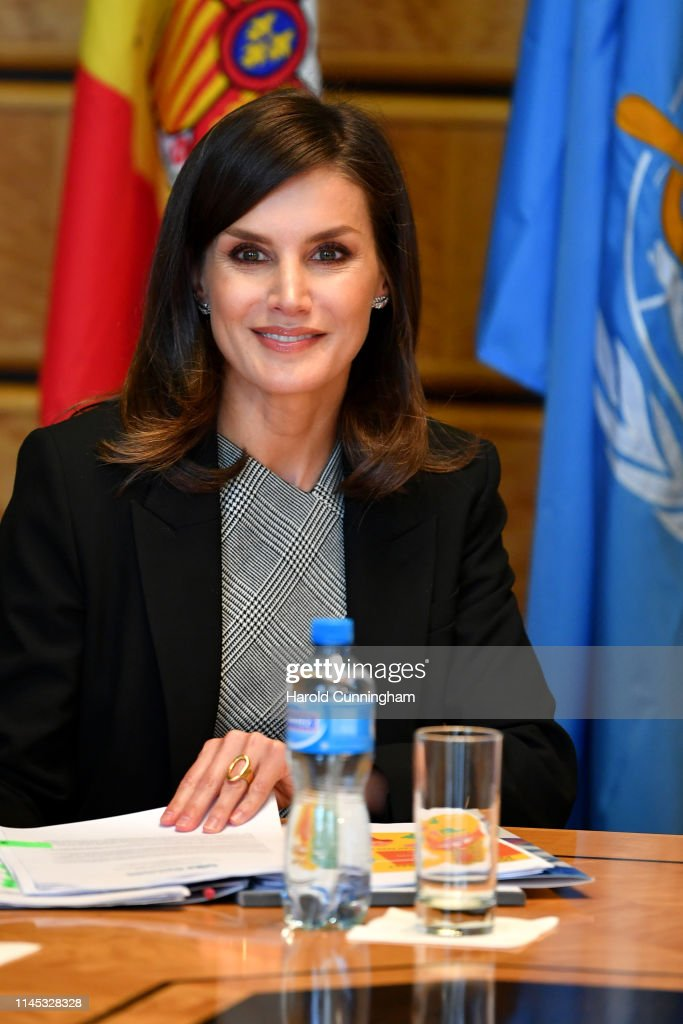 Queen Letizia Of Spain Attends World Health Assembly : News Photo
