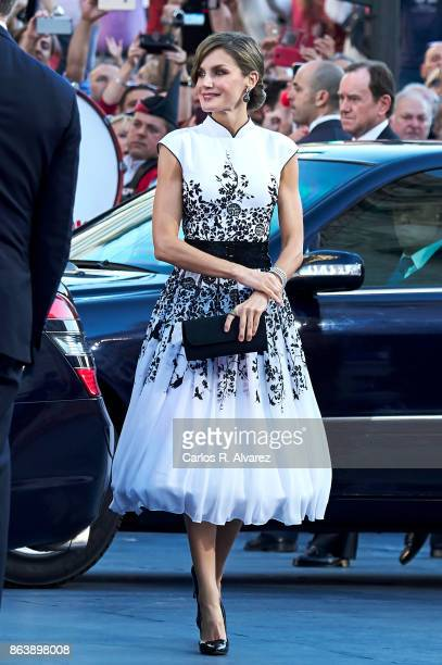 Queen Letizia of Spain attends the Princesa de Asturias Awards 2017 ceremony at the Campoamor Theater on October 20 2017 in Oviedo Spain