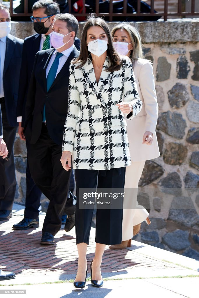 Queen Letizia Arrives At 'Princesa de Girona Foundation Award 2021' Event In Toledo : News Photo