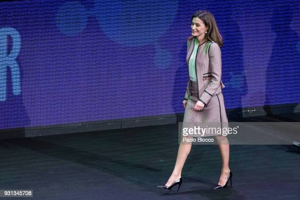 Queen Letizia of Spain attends the Rare Diseases official day event at Goya Theater on March 13 2018 in Madrid Spain