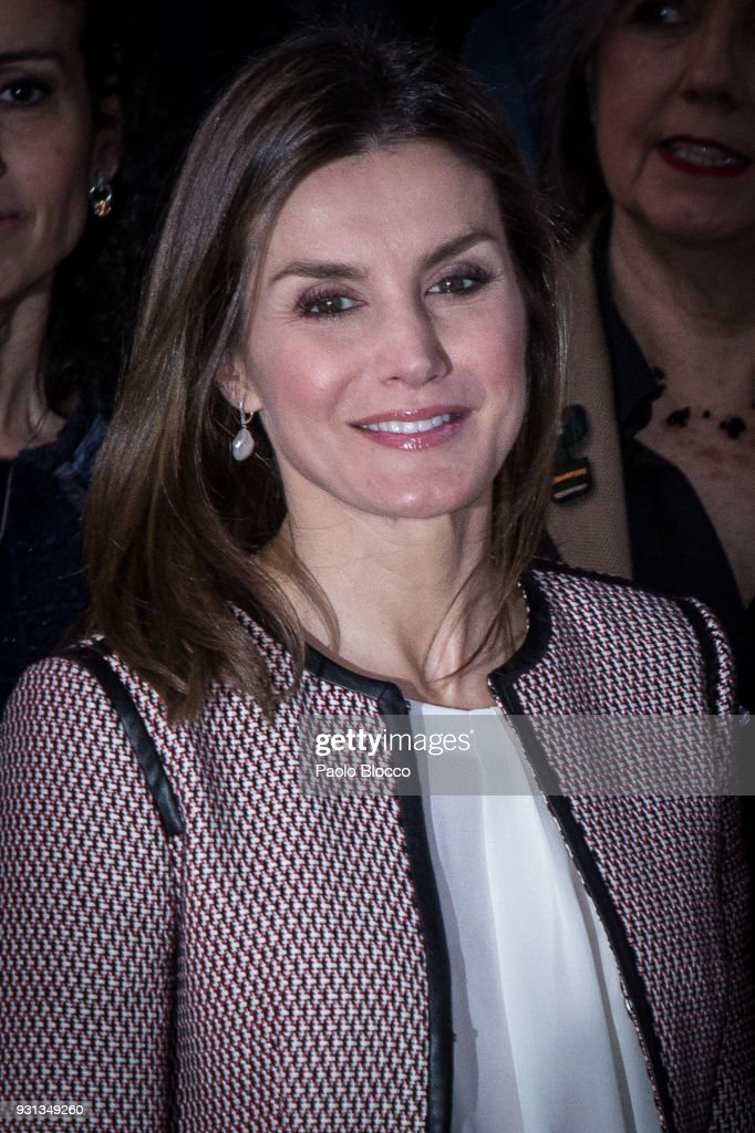 Queen Letizia of Spain attends the Rare Diseases official day event at Goya Theater on March 13, 2018 in Madrid, Spain.