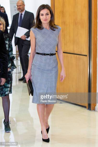 Queen Letizia of Spain attends the Rare Diseases World Day event at Duques de Pastrana Palace on March 05 2019 in Madrid Spain