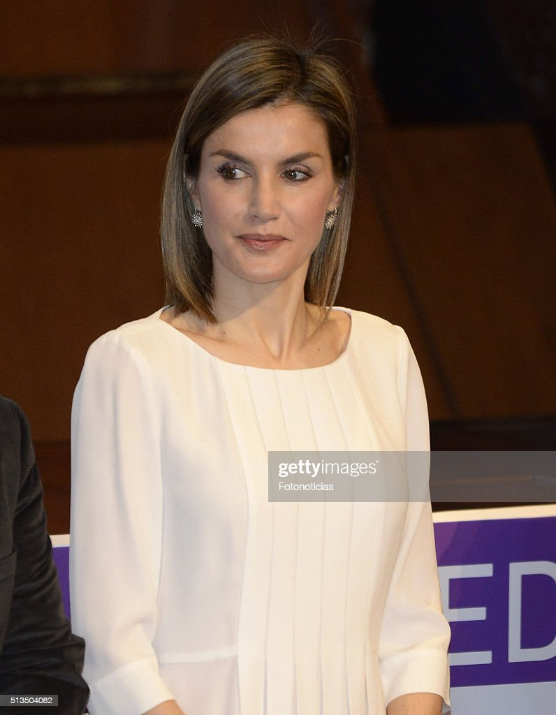 Queen Letizia Attends the Rare Diseases World Day Event : News Photo