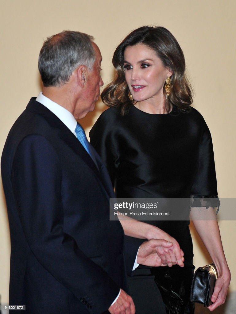 Spanish Royals Attend A Reception For President of Portugal : News Photo