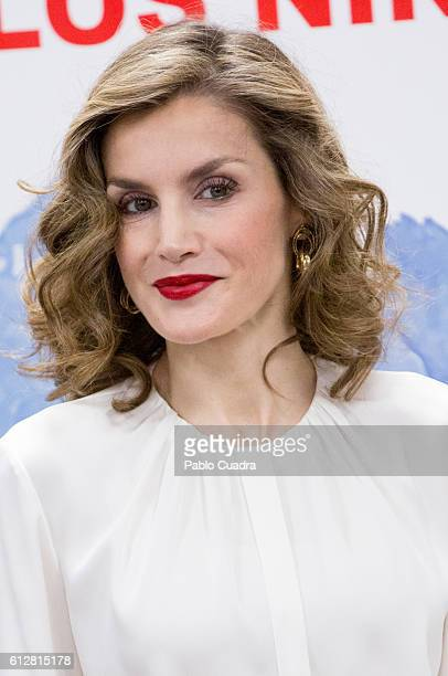 Queen Letizia of Spain attends the Red Cross Fundraising day event on October 5 2016 in Madrid Spain