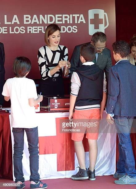 Queen Letizia of Spain attends the Red Cross Fundraising Day on October 2 2015 in Madrid Spain