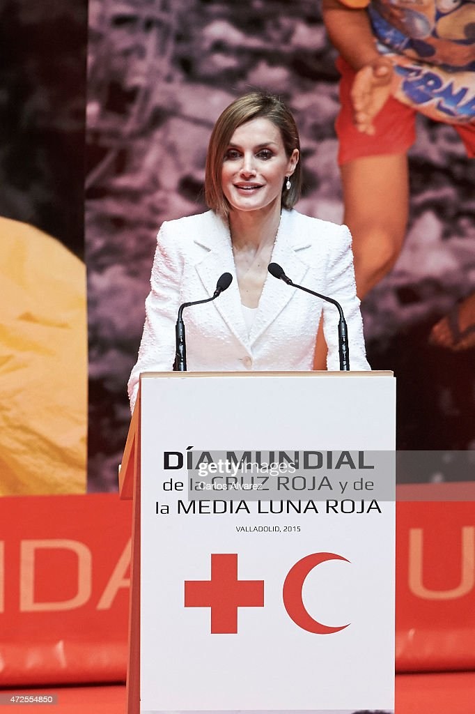 Queen Letizia of Spain Attends the Red Cross World Day Commemoration in Valladolid : News Photo