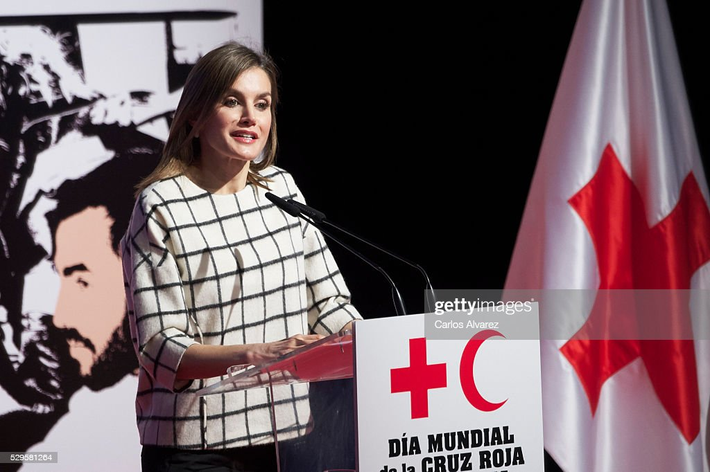 Queen Letizia of Spain Attends Red Cross World Day in Albacete : ニュース写真